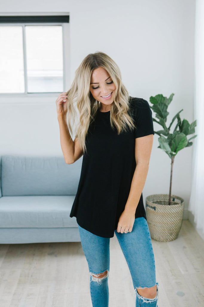Essential Short Sleeve Tunic - 9 Color Options
