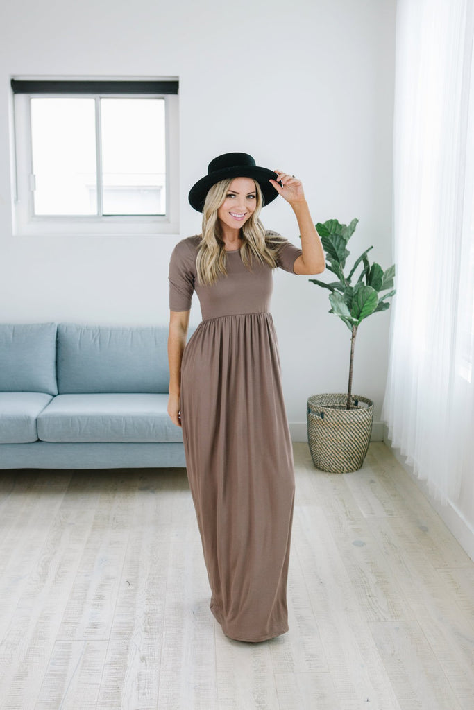 Half Sleeve Pocket Maxi - Fancy Frills Boutique