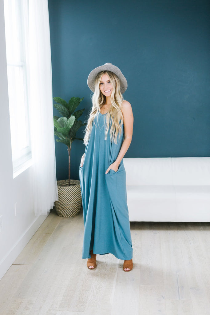 Relaxed Pocket Maxi - Fancy Frills Boutique