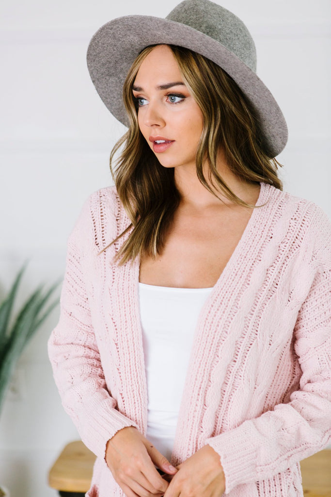 Cable Knit Pocket Cardigan