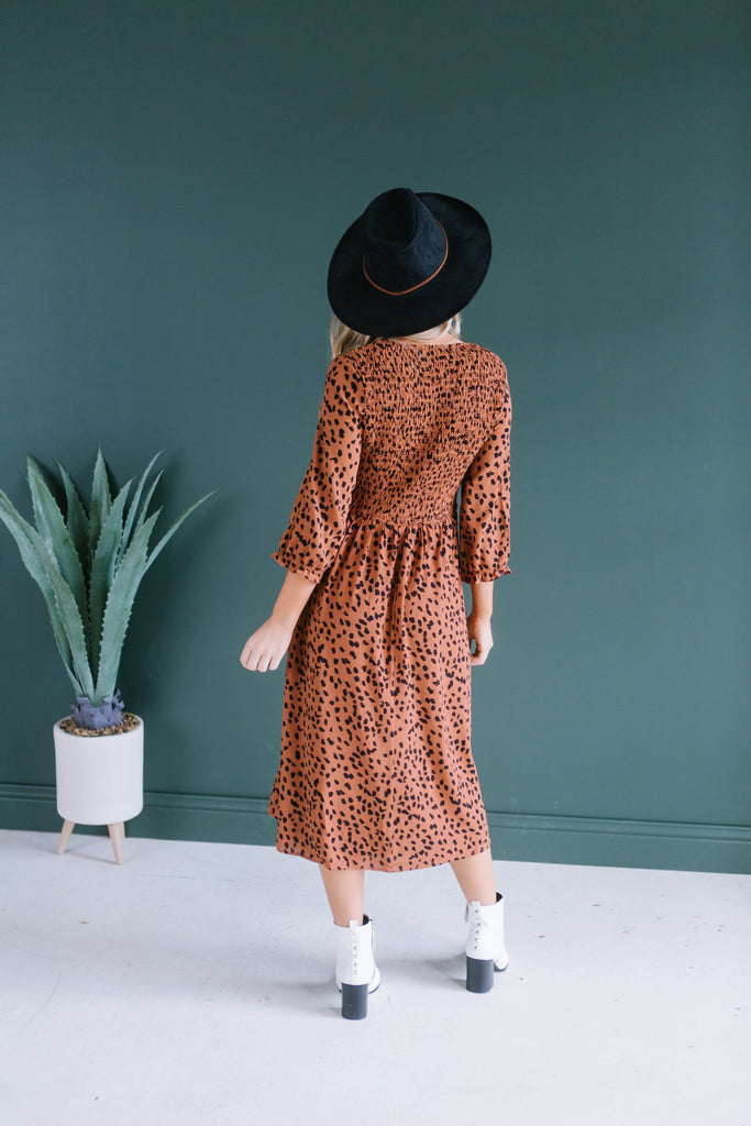 Smocked Animal Print Dress - Fancy Frills Boutique