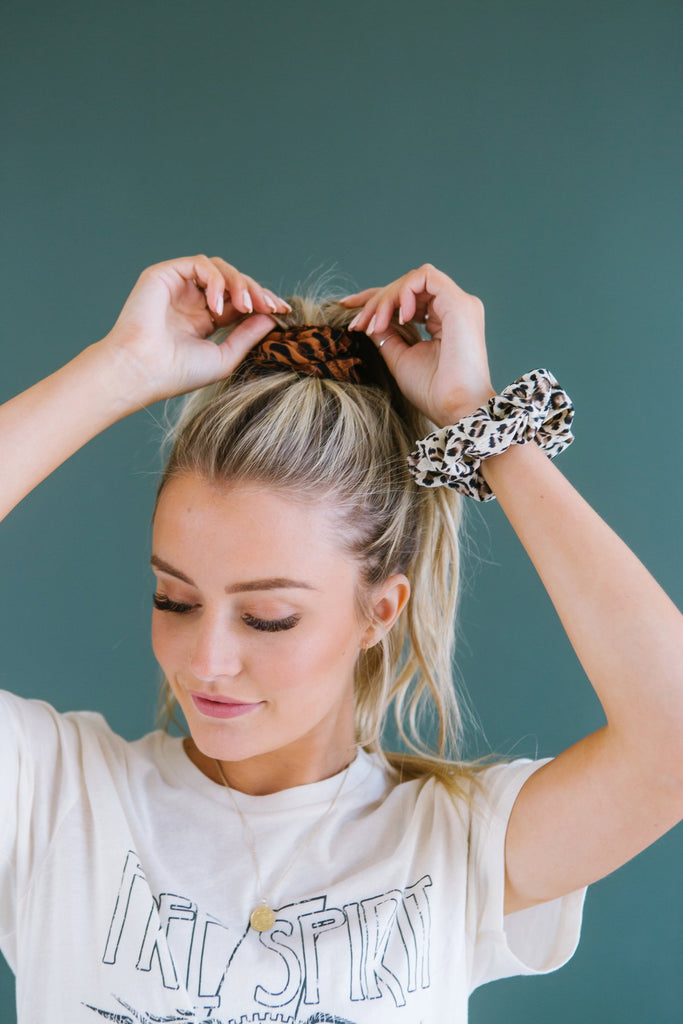 Animal Print Scrunchie - Fancy Frills Boutique
