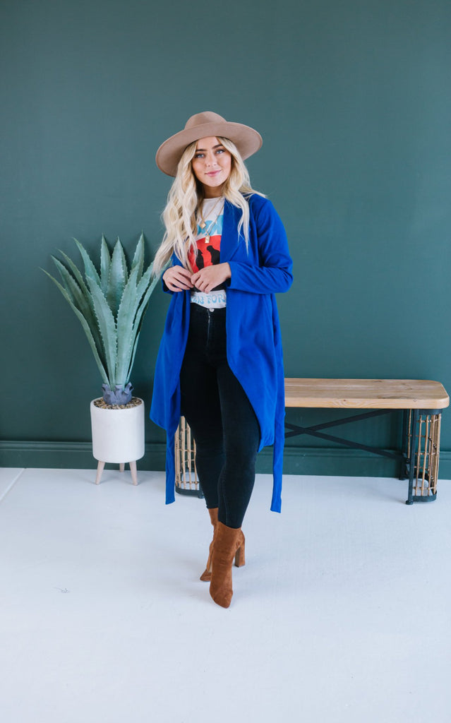 Chic Wool Tie Coat