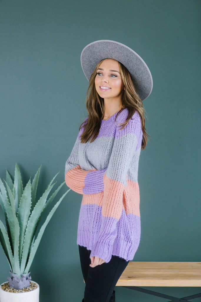 Colorblock Sweater - Fancy Frills Boutique