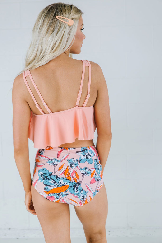 High Waist Two Piece - Fancy Frills Boutique
