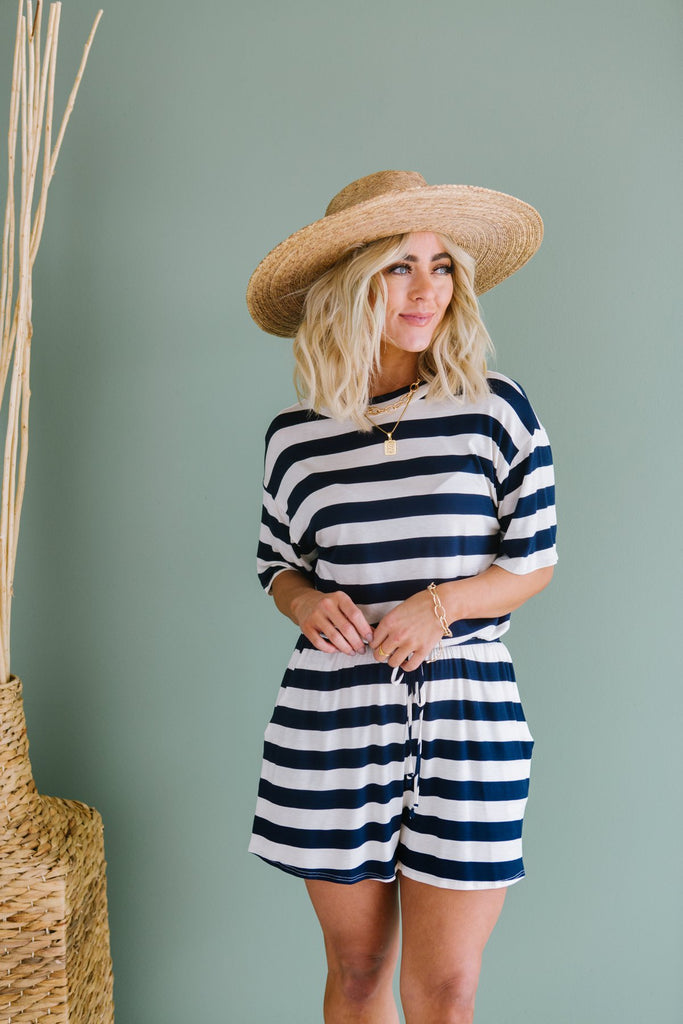 Striped Spring Romper - Fancy Frills Boutique