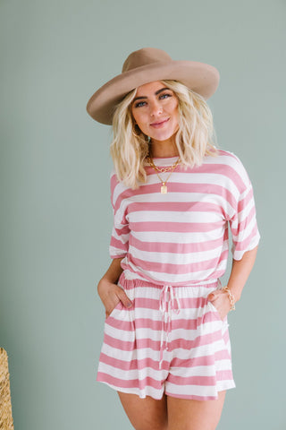 Striped Ruffle Tie Dress