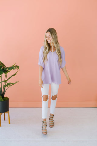 Side Button Spring Tunic