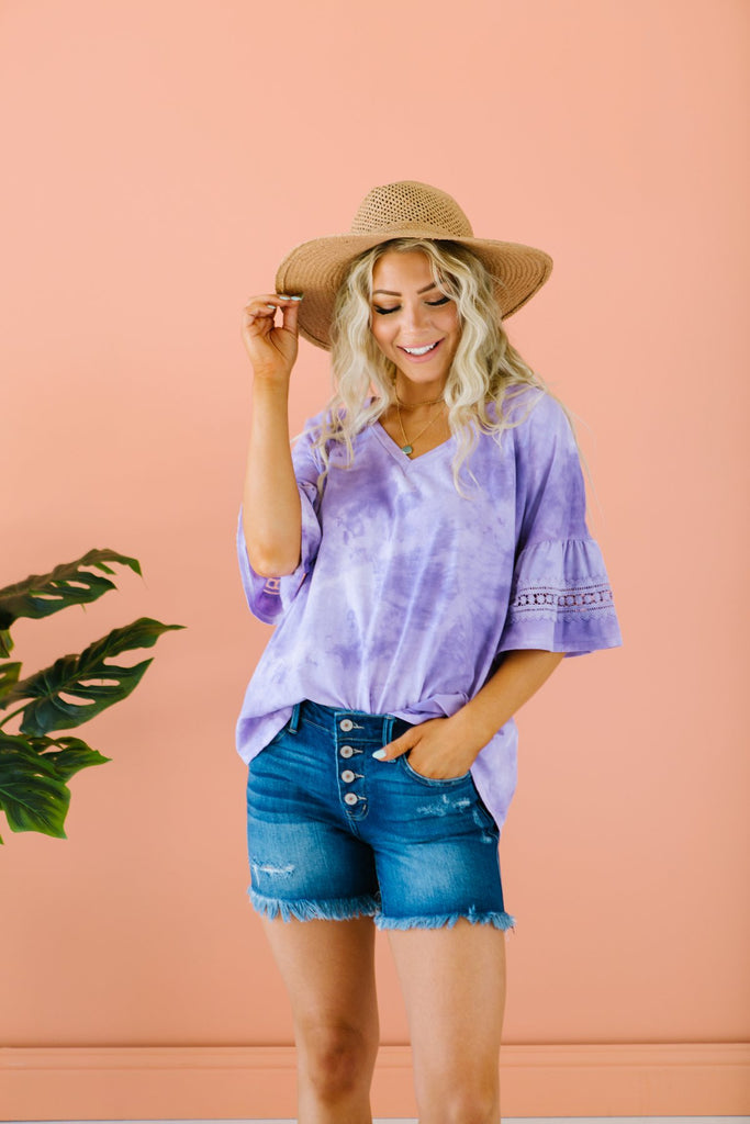 Tie Dye Ruffle Tunic - Fancy Frills Boutique