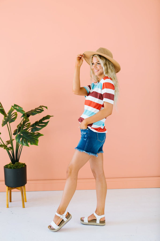 Striped Summer Tee - Fancy Frills Boutique