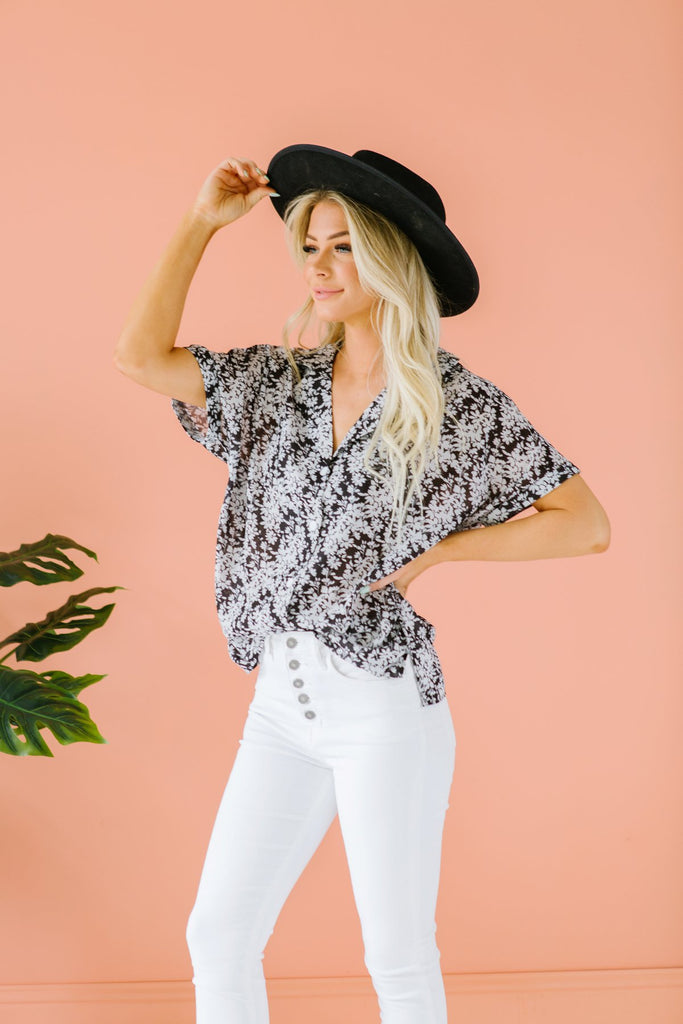 Summer Button Up Top - Fancy Frills Boutique