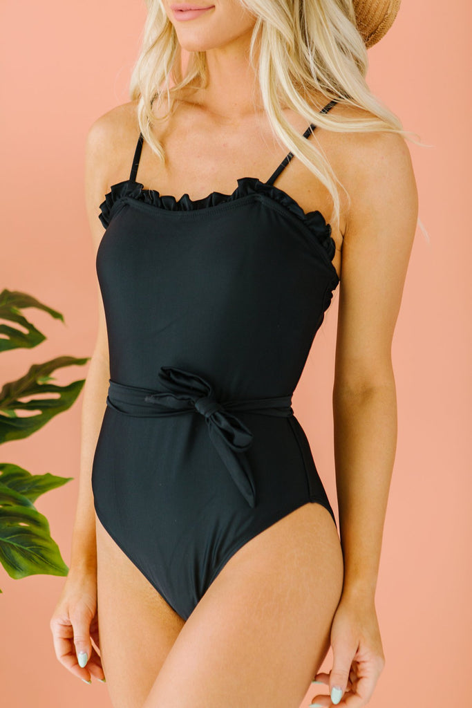 Ruffled Tie Swimsuit