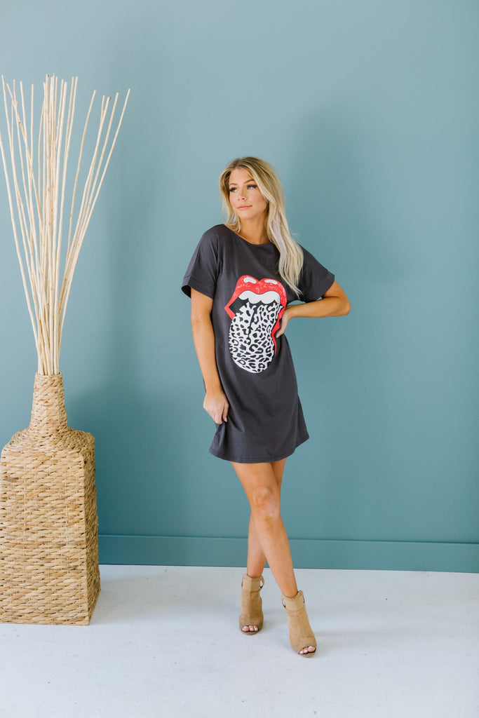 Screen Print Tee Dress