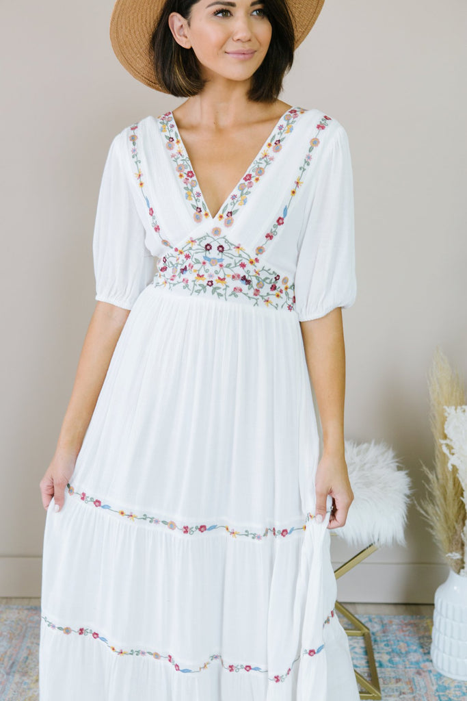 Lux Embroidered Dress