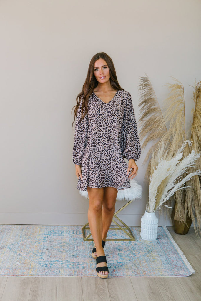 Animal Print Fall Dress