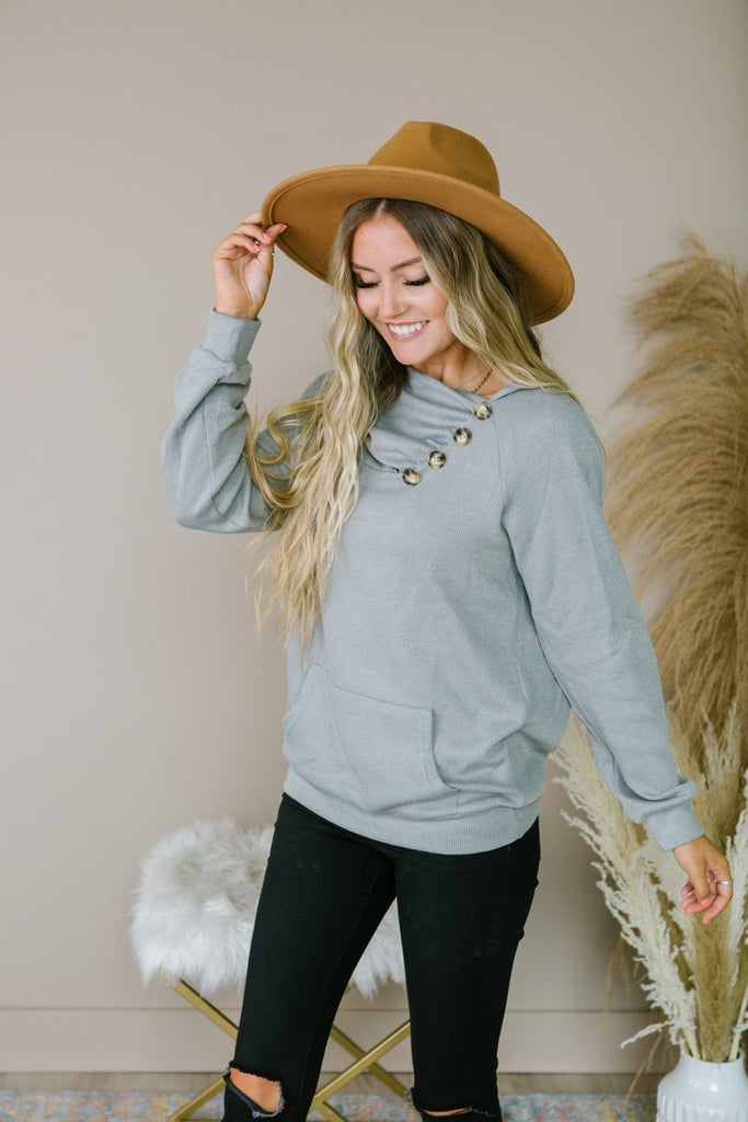 Soft Button Sweater