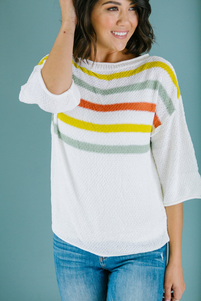 Striped Transitional Sweater