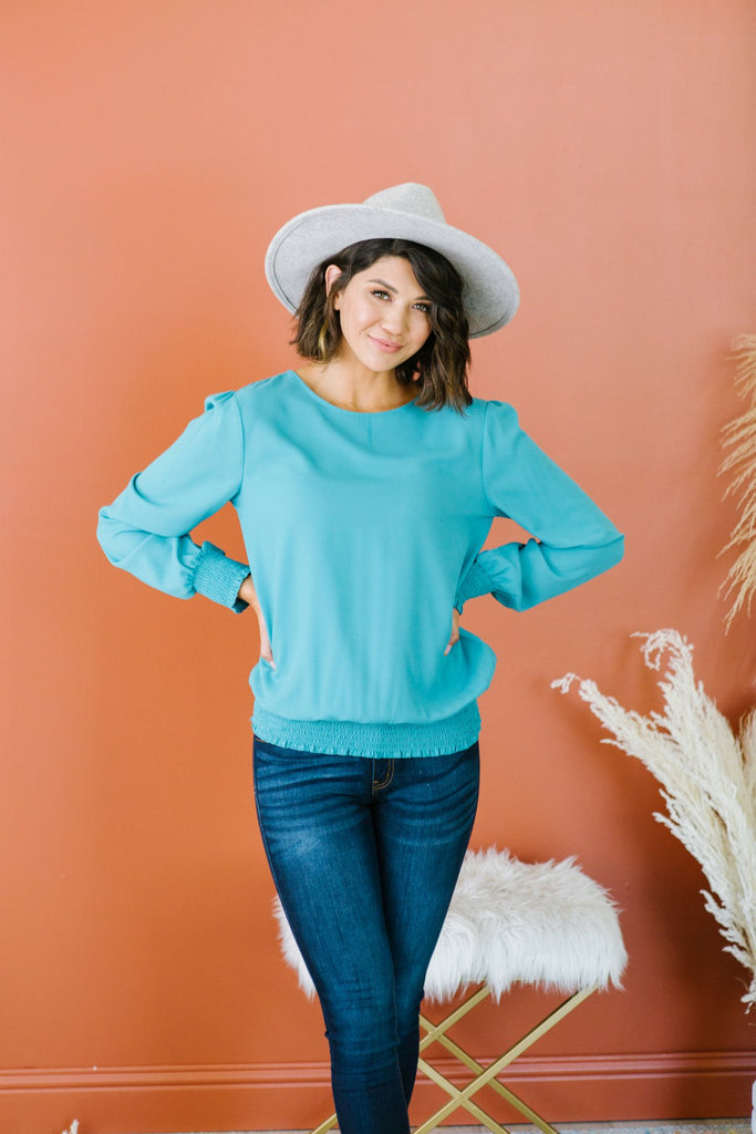Smocked Trim Blouse