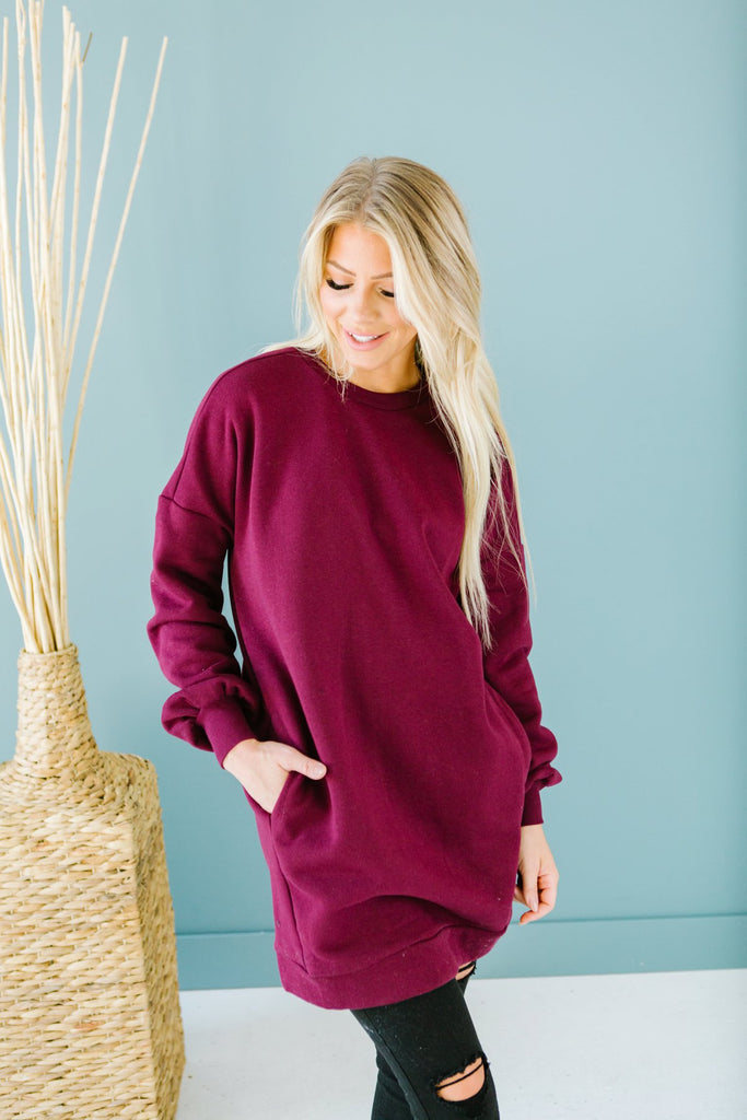 Pocket Sweatshirt Tunic