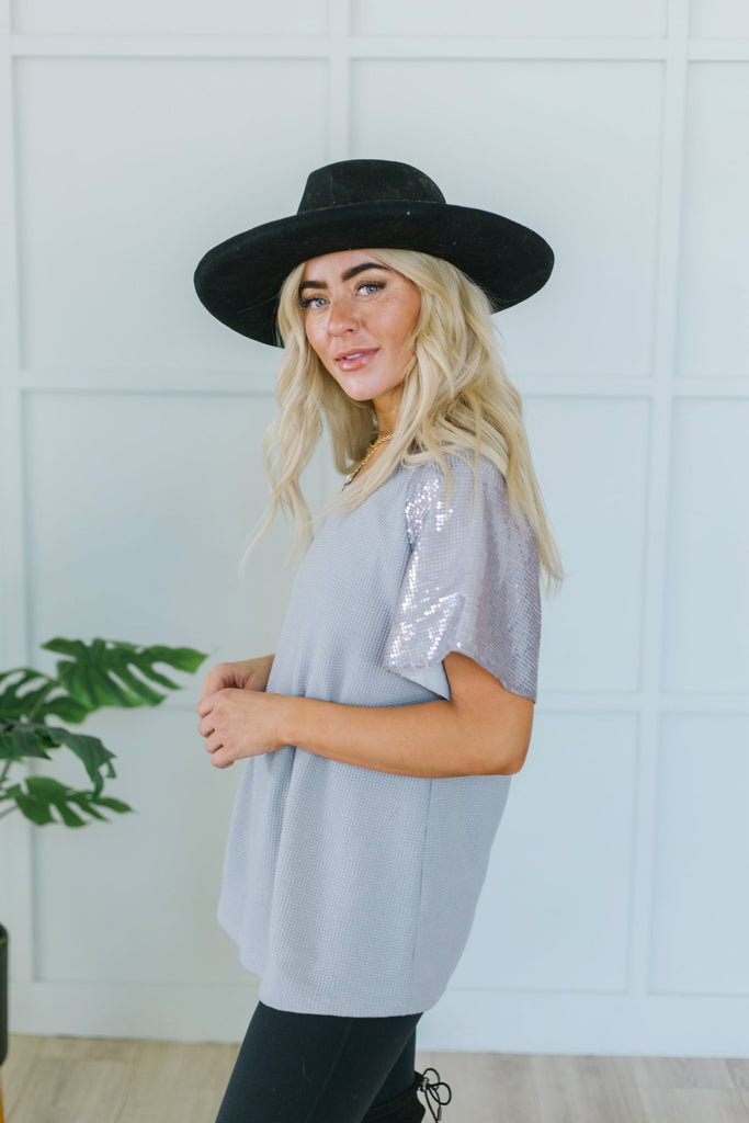 Sequin Sleeve Tunic