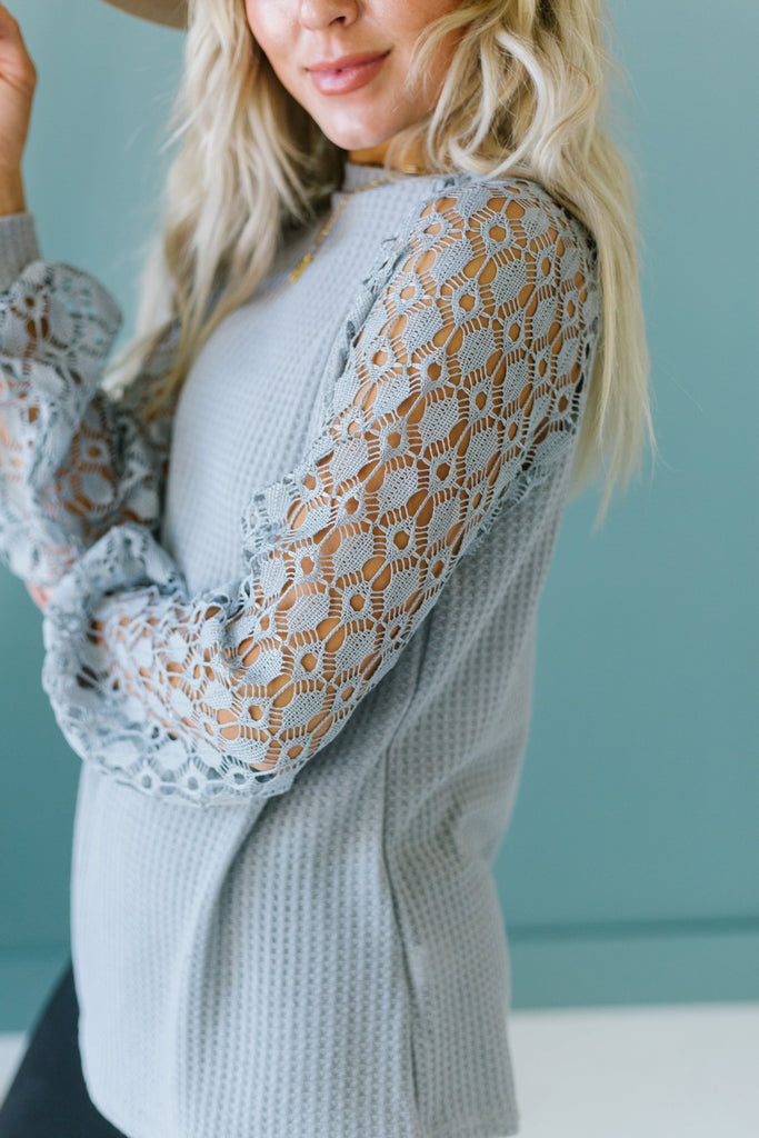 Lace Sleeve Fall Tunic