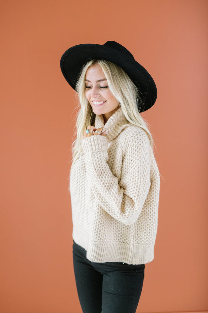 Textured Boyfriend Sweater