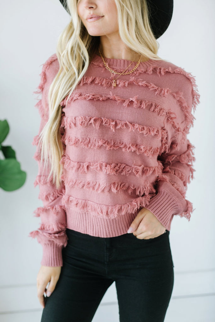 Softest Fringe Sweater