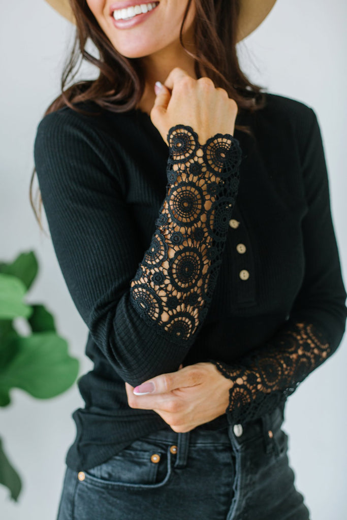 Crochet Sleeve Button Tunic