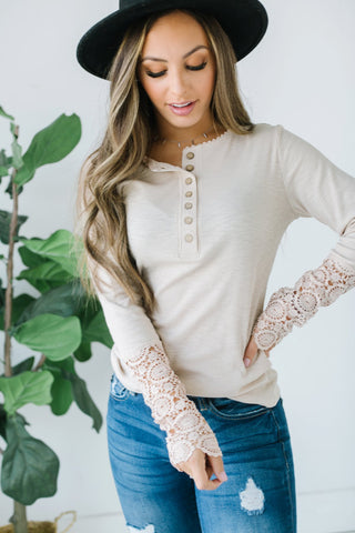 Contrast V Neck Top