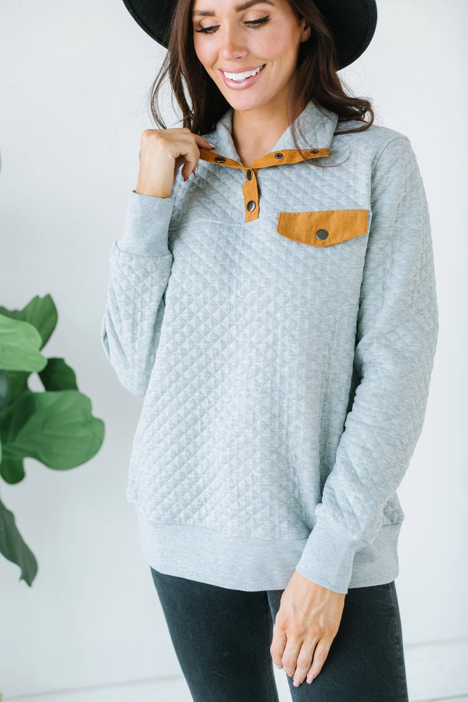 Quilted Outdoor Pullover