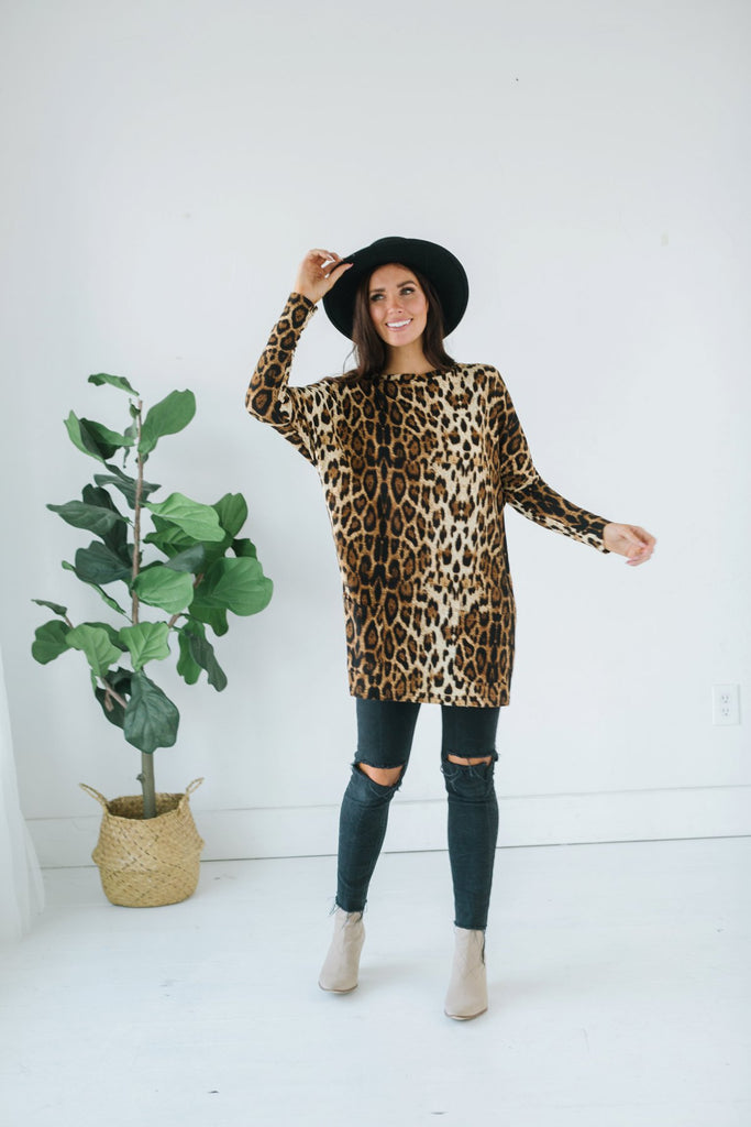 Animal Print Pocket Tunic