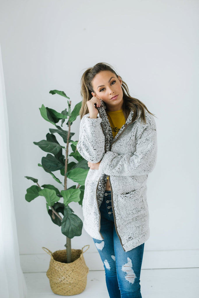 Sherpa Hooded Coat