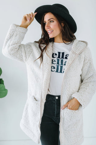 Cable Knit Button Cardigan