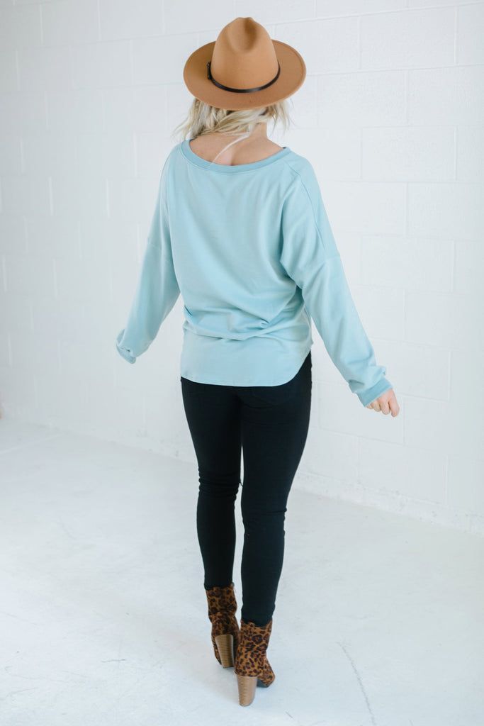 Oversized Button Pullover