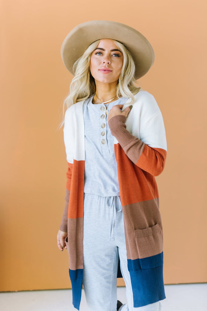 Harvest Striped Cardigan