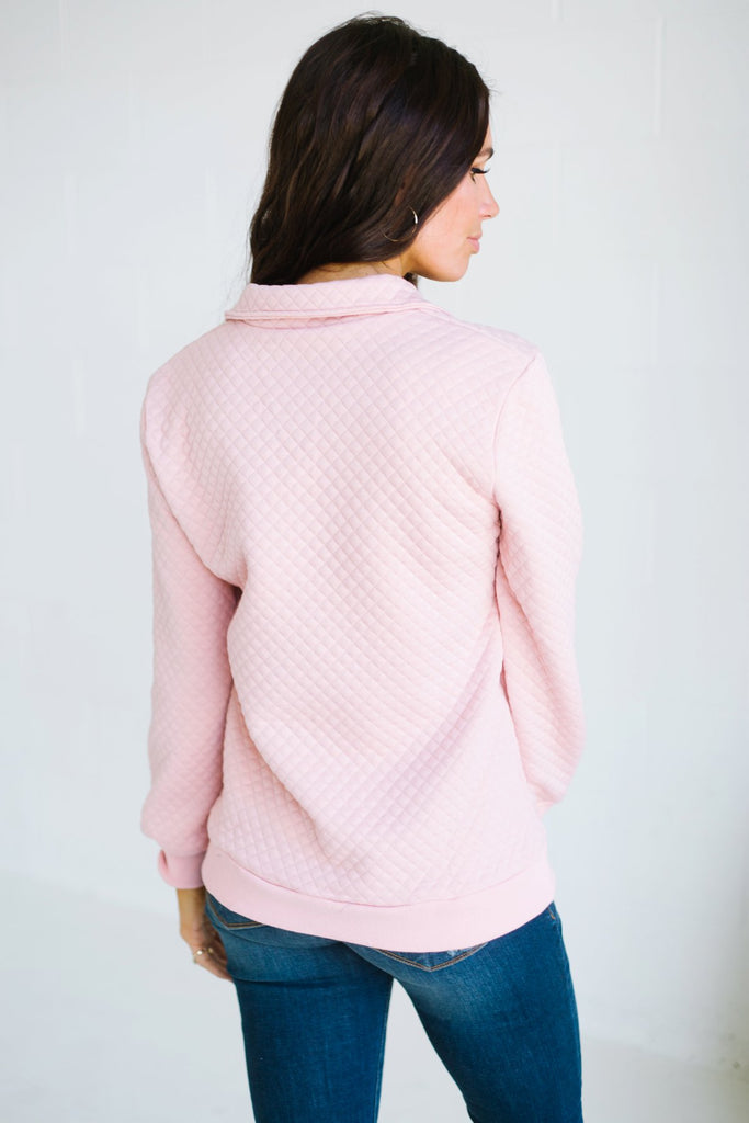 Pocket Quilted Pullover