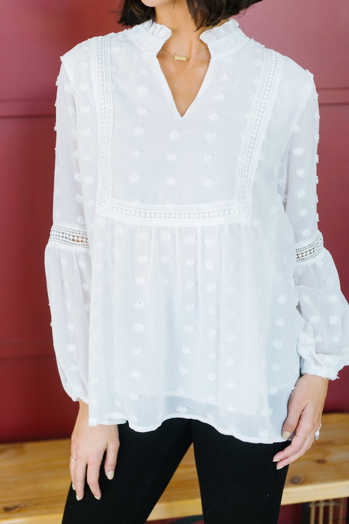 Swiss Dot Babydoll Tunic