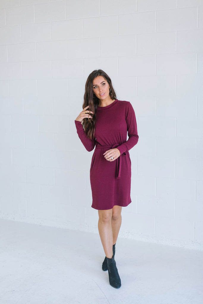Knit Tie Holiday Dress