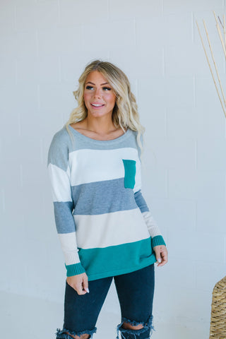Winter Colorblock Sweater