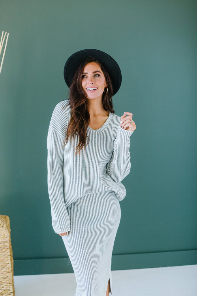 Sweater Skirt Set