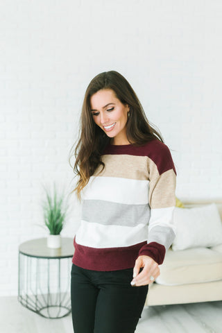 Striped Long Cardi