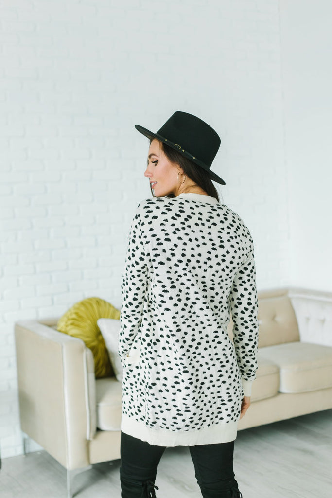 Cheetah Print Pocket Cardigan