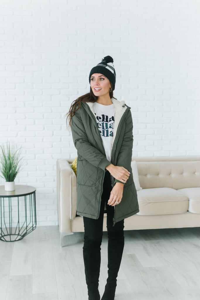 Sherpa Lined Winter Coat