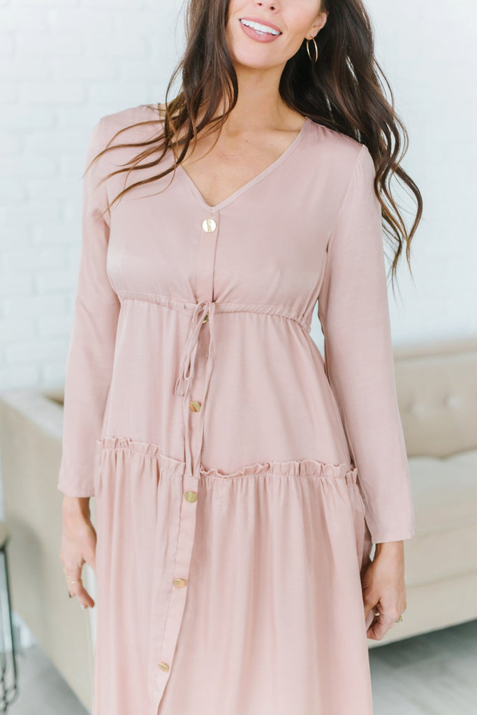 Ruffled Tie Dress