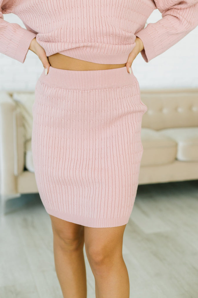 Sweater Skirt Set-Shorter Style