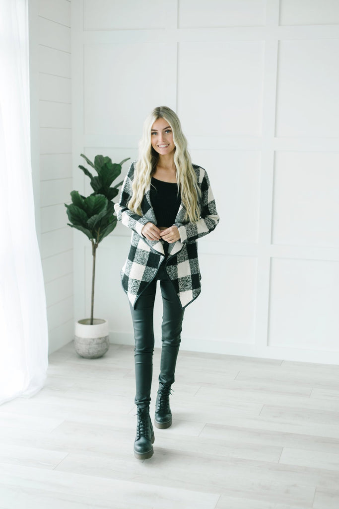 Softest Plaid Cardigan