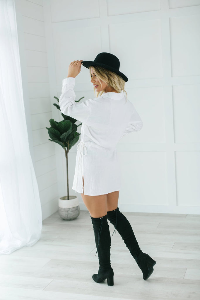 All Tied Up Shirt Dress