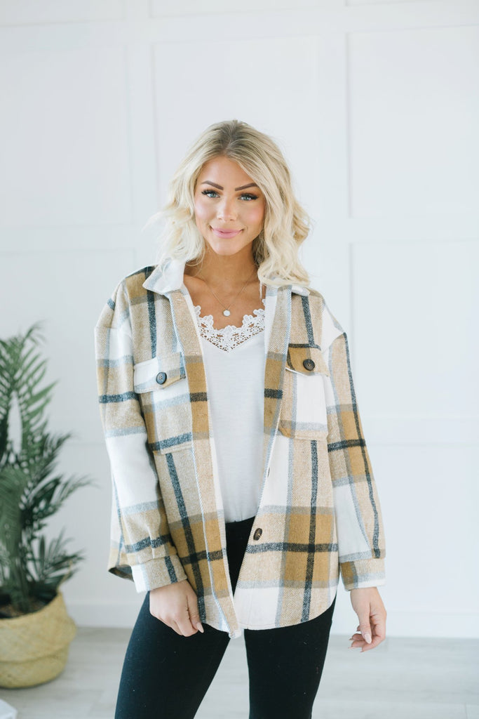 Lux Plaid Button Up