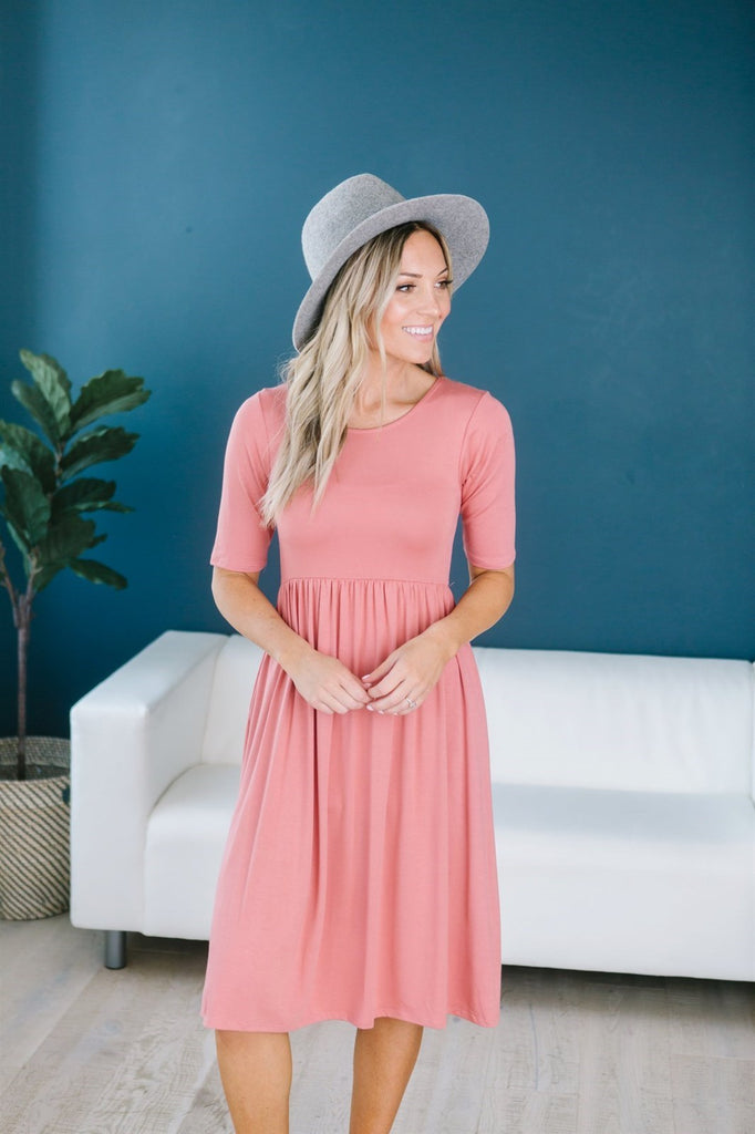 Fit N Flare Midi - 14 Color Options - Fancy Frills Boutique