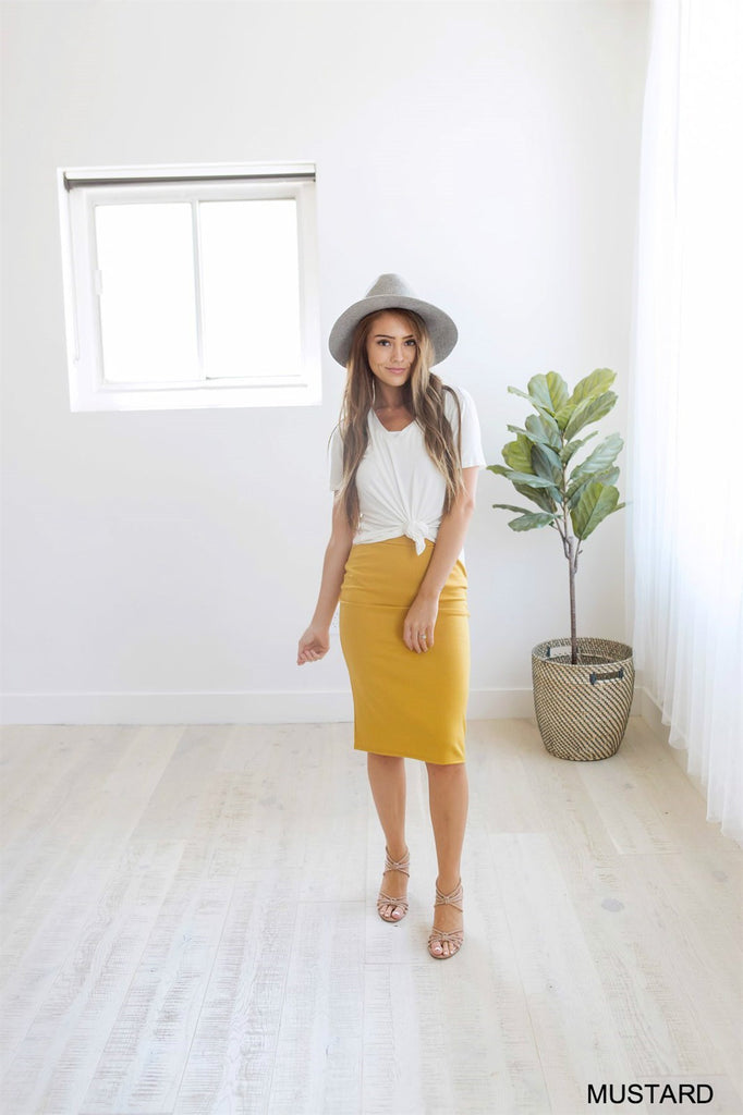 The Perfect Pencil Skirt - 10 Color Options